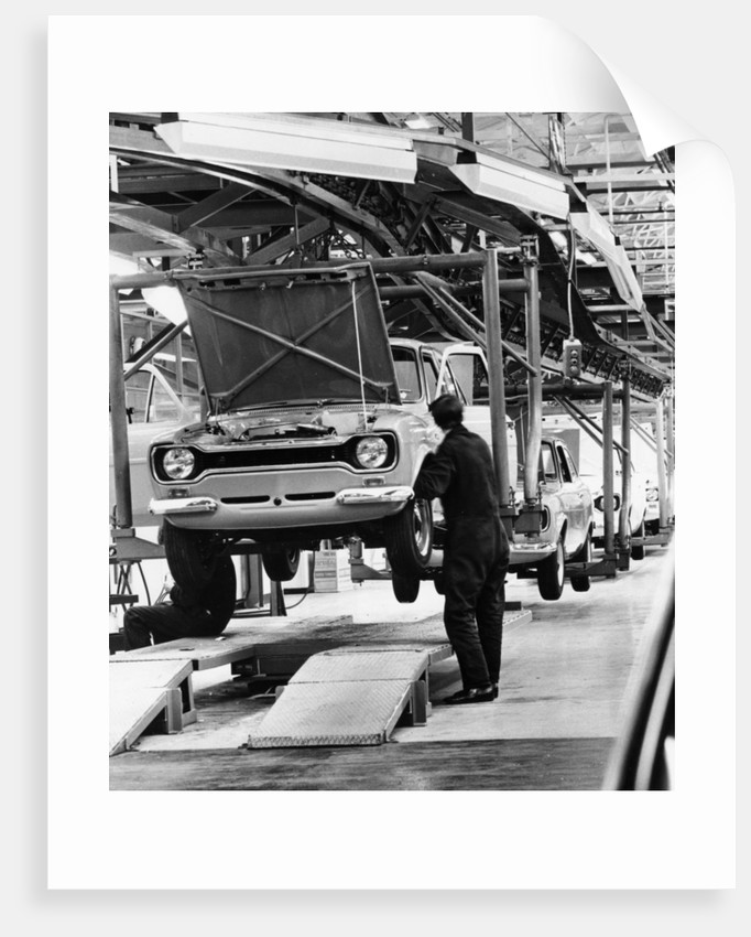Ford Escort production line by Anonymous