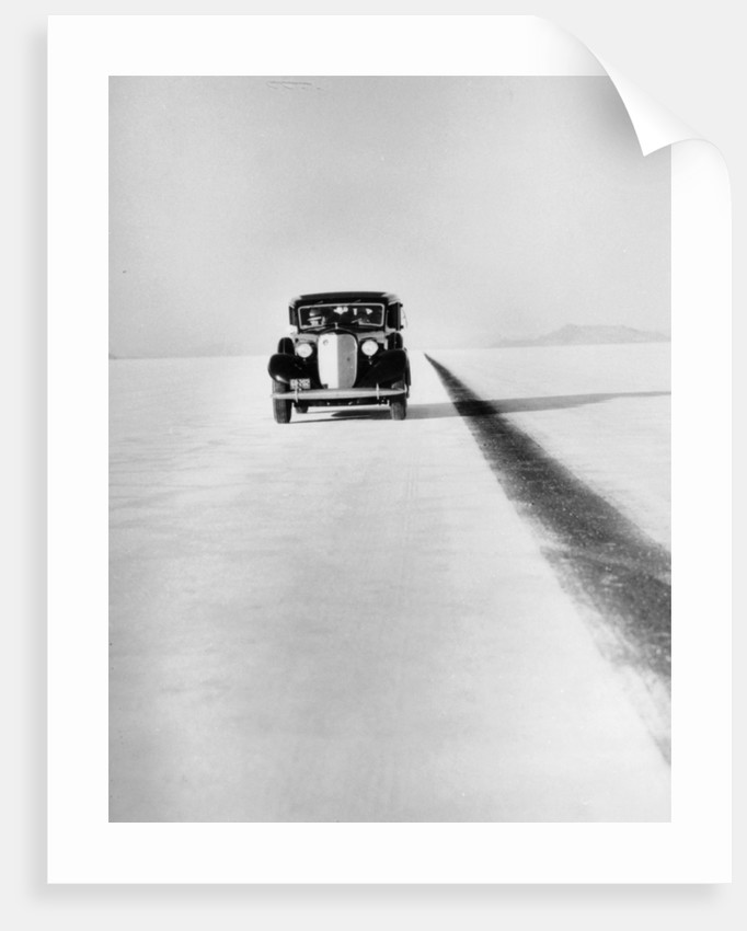 A Ford Lincoln on the Bonneville Salt Flats by Anonymous