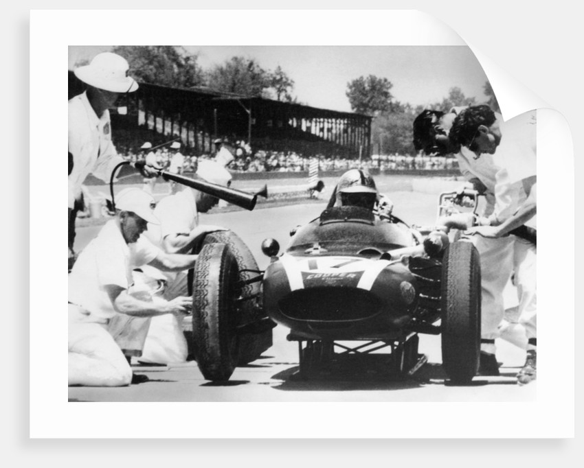 Jack Brabham's Cooper in the pits by Anonymous