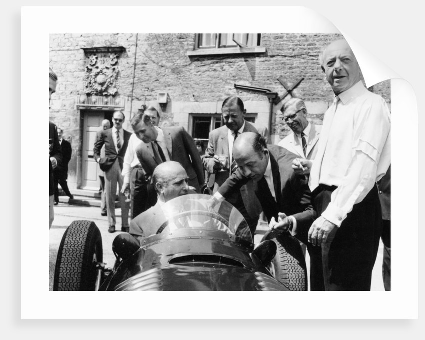 Juan Manuel Fangio at the wheel of a V16 BRM by Anonymous