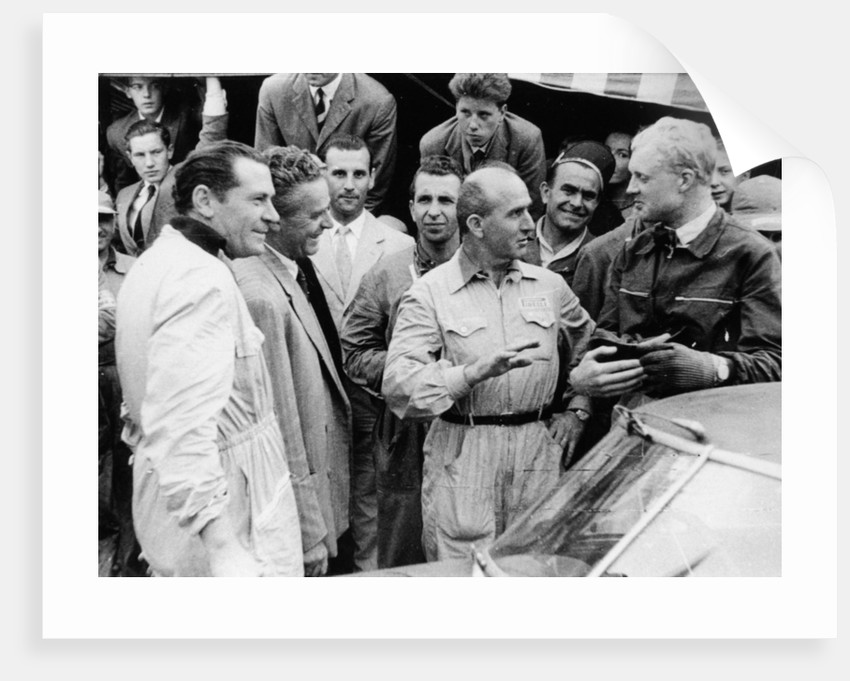 Giuseppe Farina and Mike Hawthorn by Anonymous