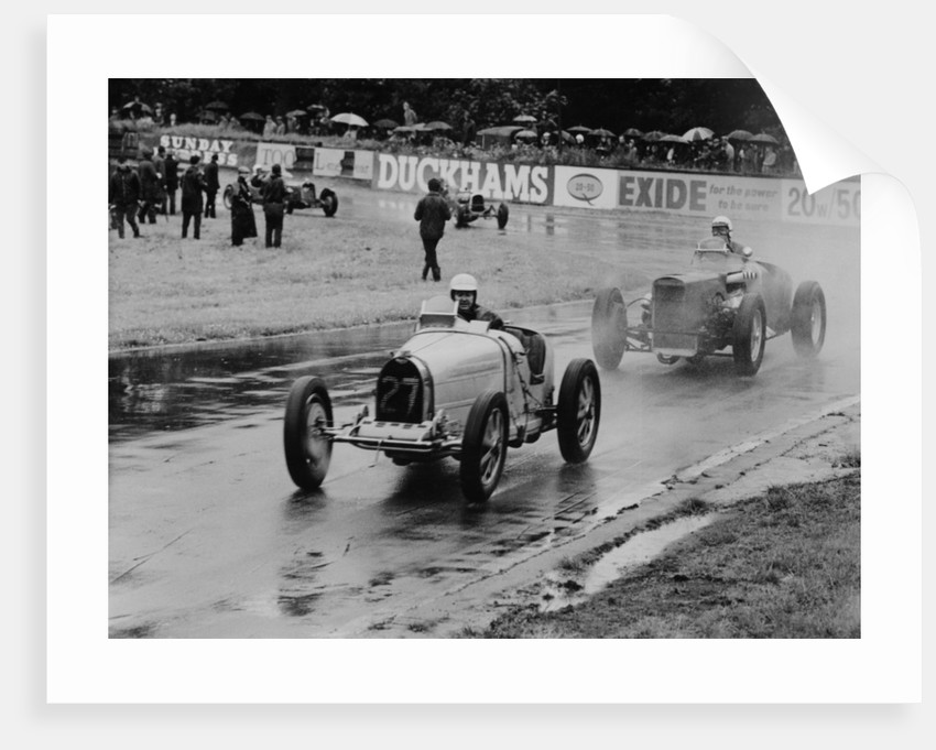 Neil Corner in a Bugatti at Oulton Park by Anonymous