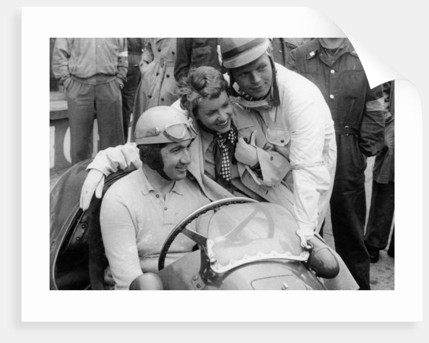 Alberto Ascari in a Ferrari by Anonymous