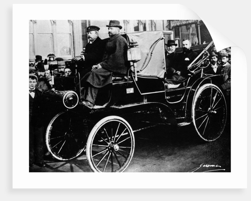Gottlieb Daimler in a Canstatt Daimler by Anonymous