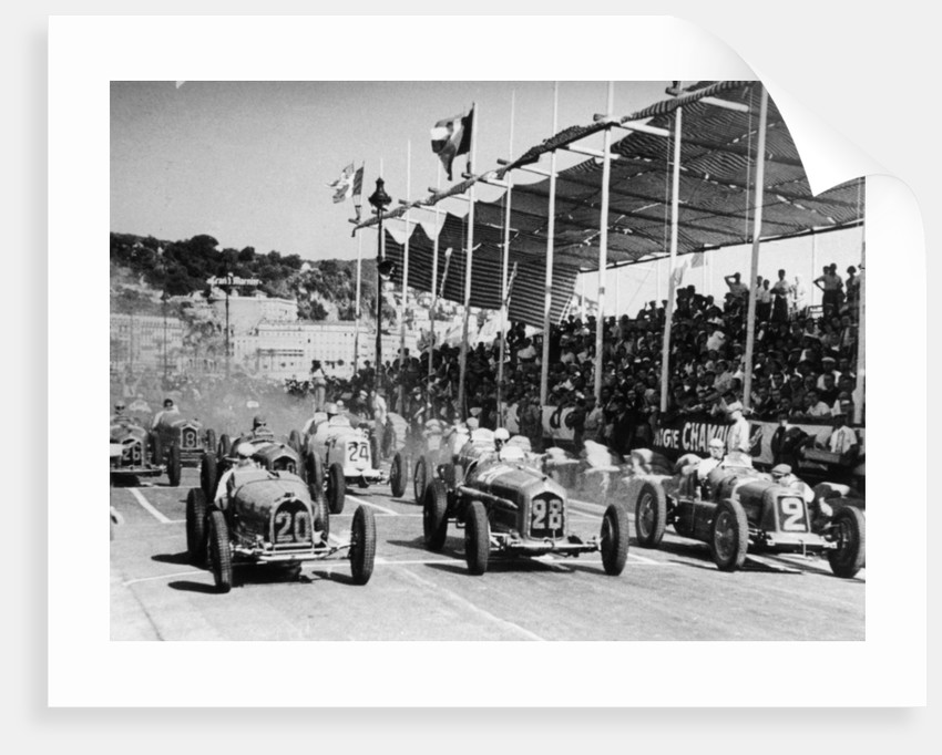 The starting grid for the Nice Grand Prix, 1934 by Unknown