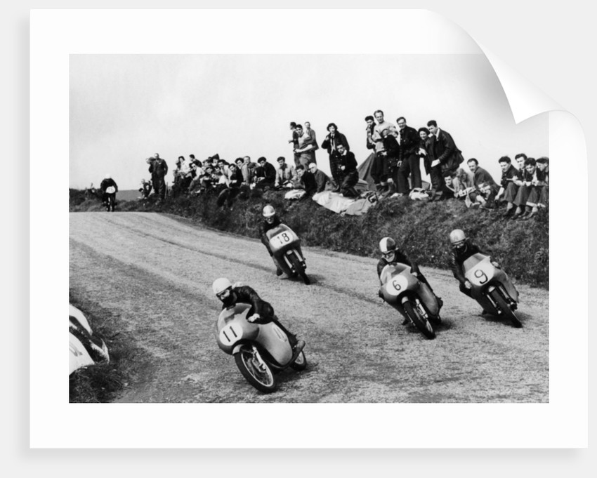 Action from the Lightweight TT race by Anonymous