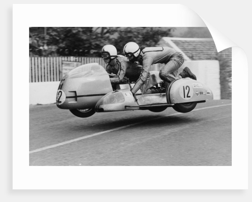 Sidecar TT race by Anonymous