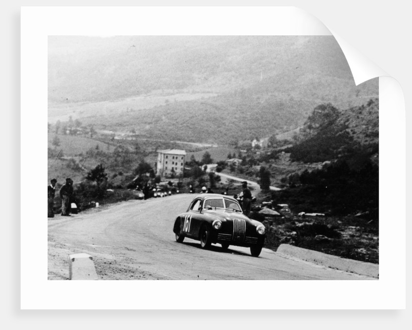 Fiat 1100S Berlinetta competing in the Mille Miglia by Anonymous