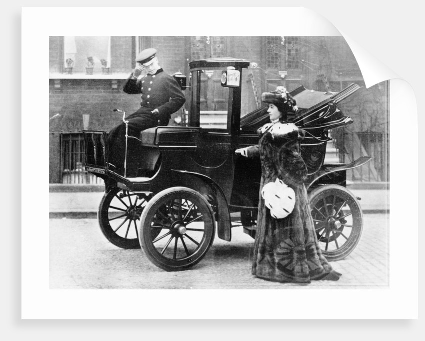 Lillie Langtry modelling a sable motoring coat by Unknown
