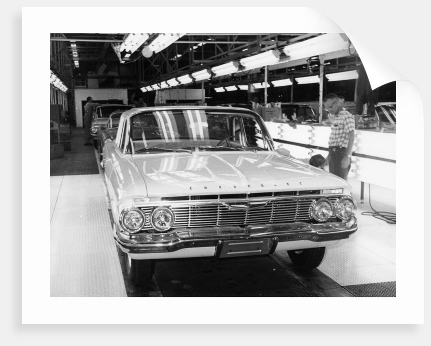 Chevrolet assembly line by Unknown