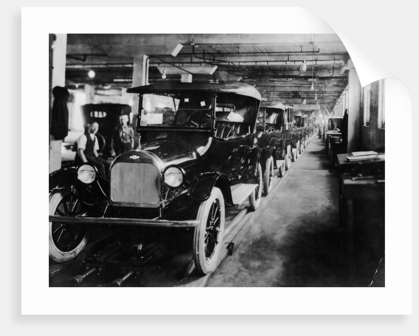Chevrolet 490 cars on production line by Anonymous