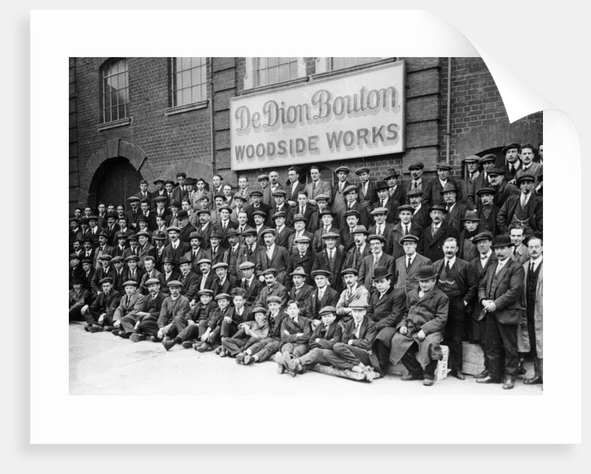 Workers outside the British De Dion Bouton works, early 1920s by Unknown