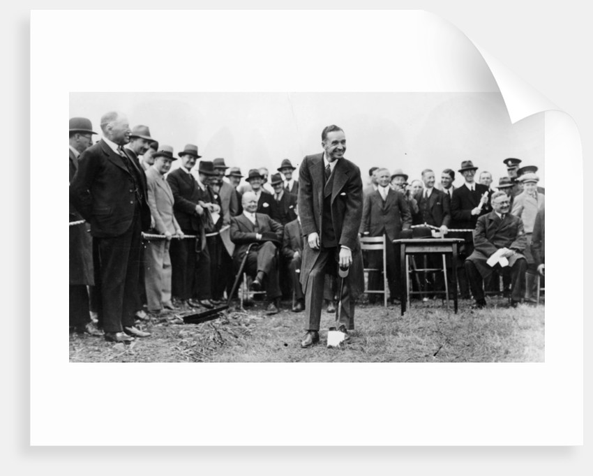 Edsel Ford turning the first sod at the site of Ford's plant at Dagenham by Anonymous