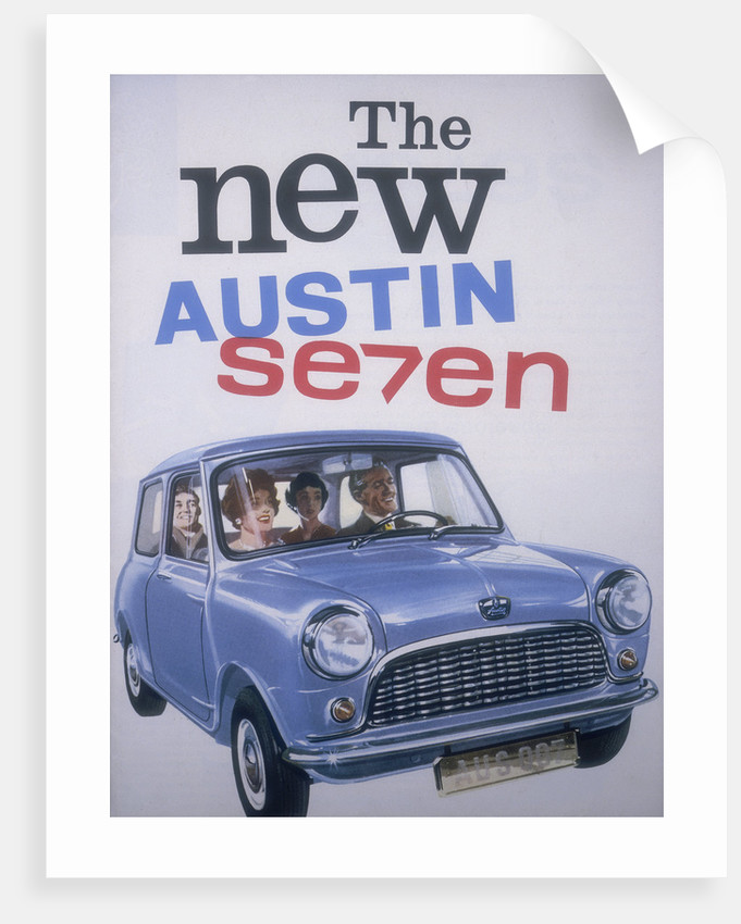Poster advertising Austin cars by Anonymous