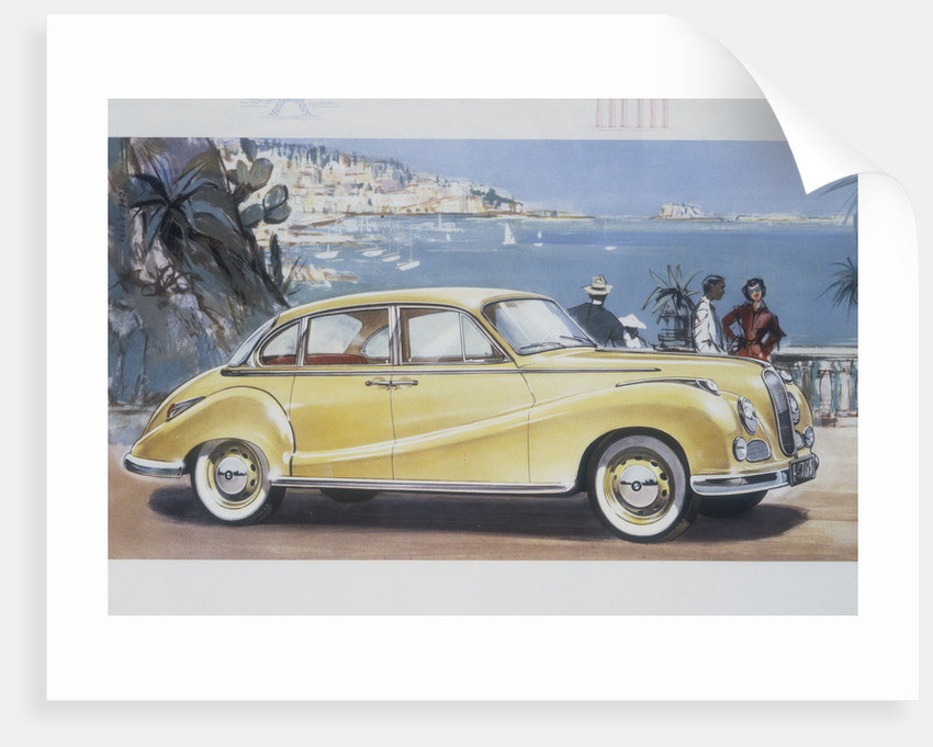 Poster advertising a BMW 502 car by Anonymous