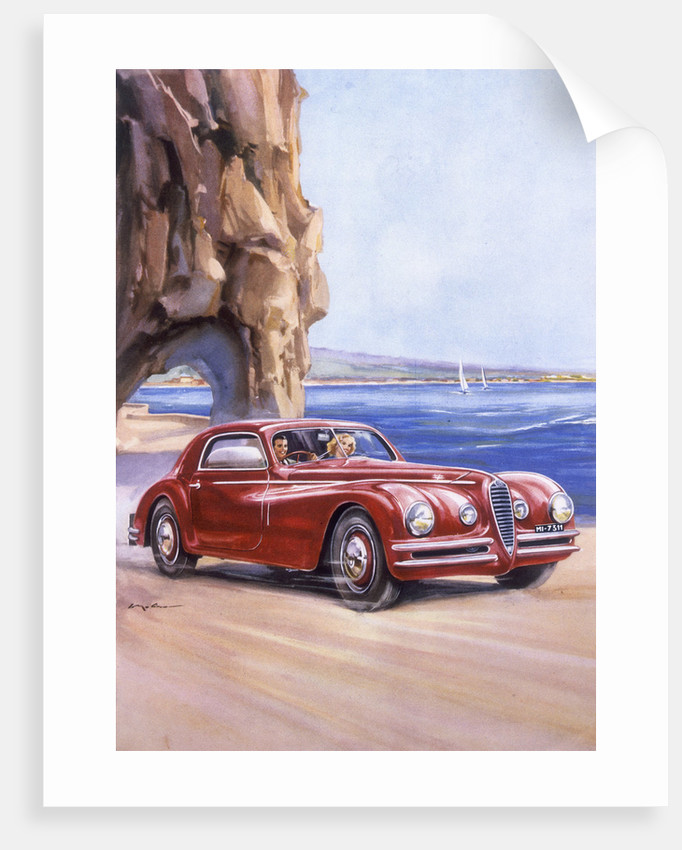 Poster Advertising An Alfa Romeo C Super Sports Posters - Alfa romeo posters