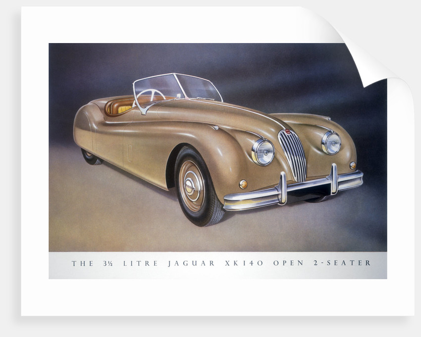 Poster advertising a Jaguar XK 140, 1954 by Unknown