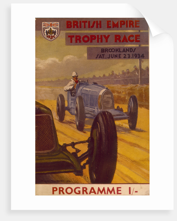 Programme for the British Empire Trophy Race by Anonymous