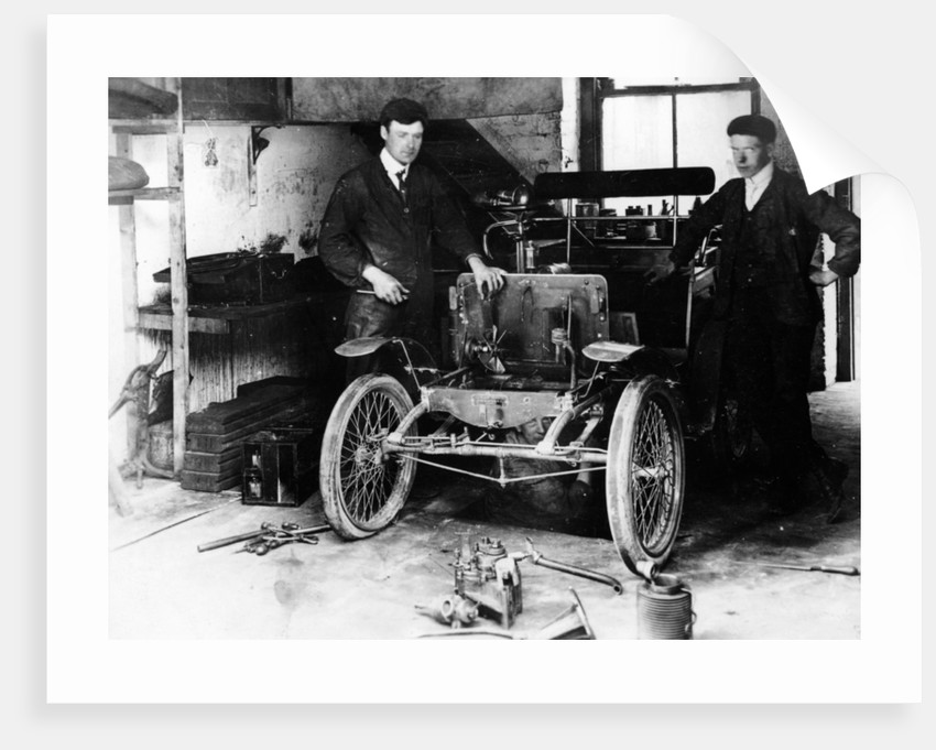 1900 New Orleans car under construction by Anonymous