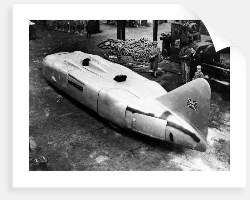 Captain George Eyston's 'Thunderbolt' car by Anonymous