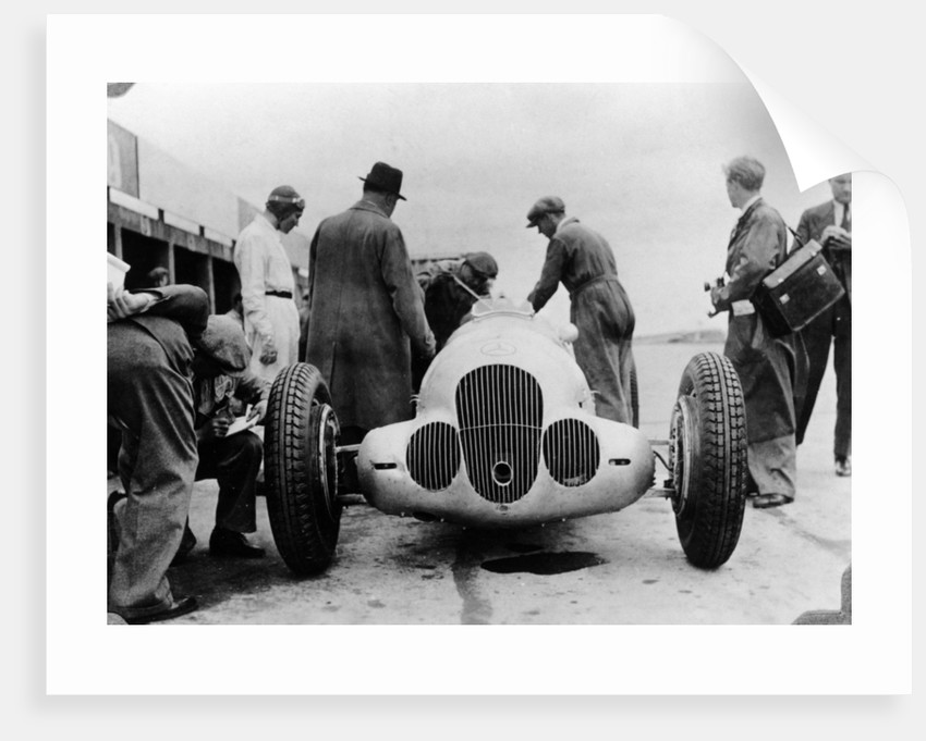 Mercedes-Benz W125 Grand Prix car at the Nurburgring by Anonymous