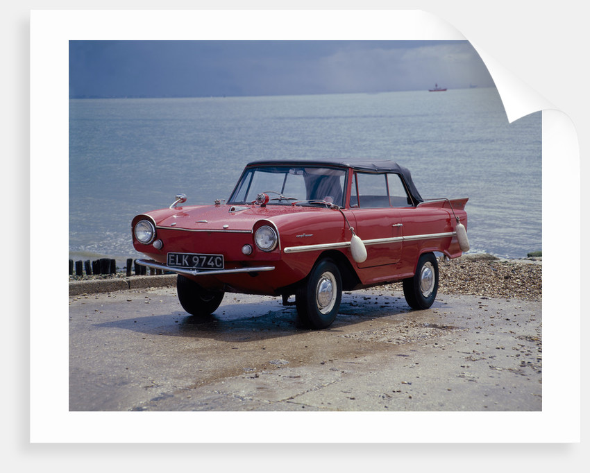 A 1965 Amphicar at the water's edge by Unknown