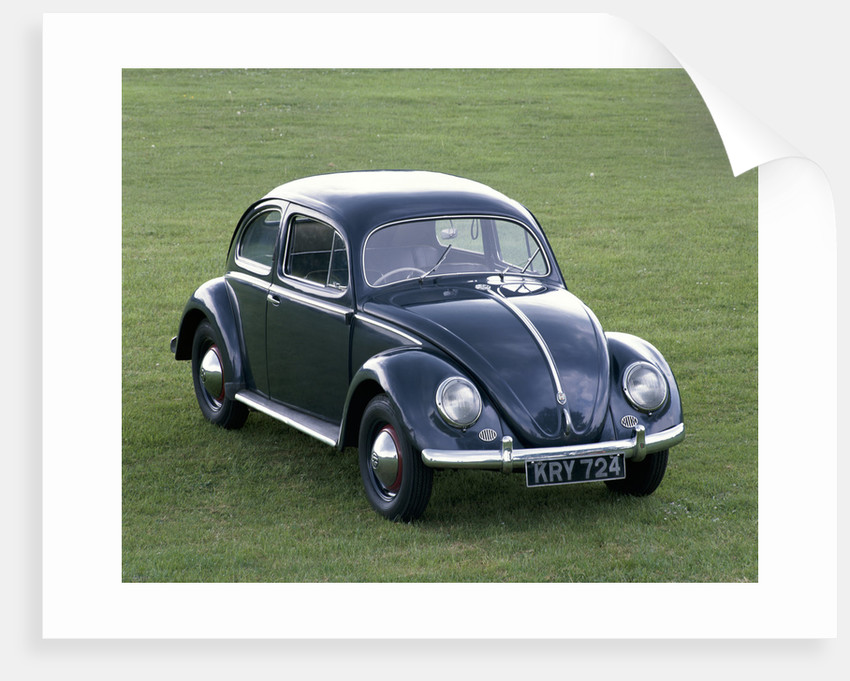 A 1953 Volkswagen Export Type 1 Beetle by Unknown