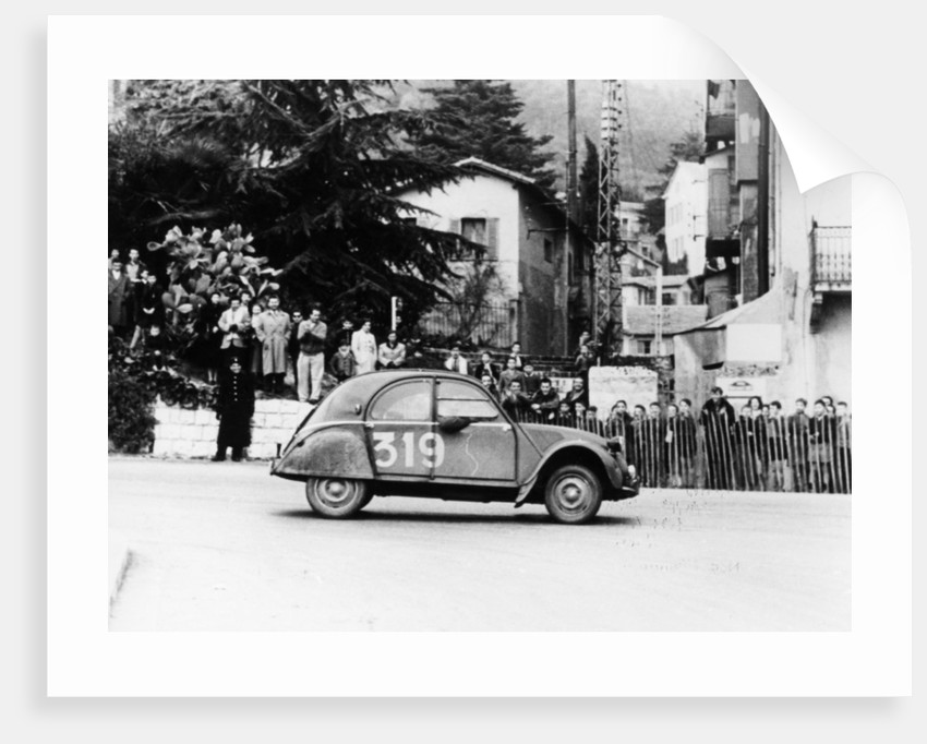 A Citroën 2CV in the Monte Carlo Rally by Anonymous