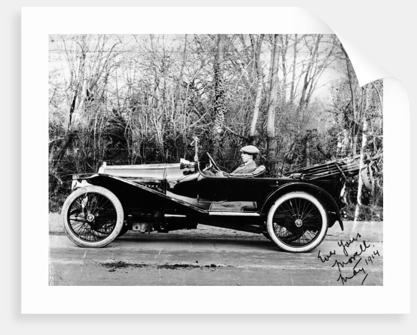 A man at the wheel of a Hispano-Suiza Alfonso XIII by Anonymous