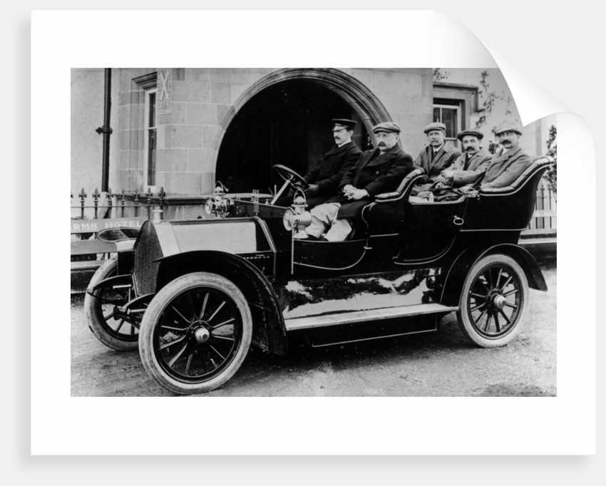 Chauffeur Charlie Keith at the wheel of a Humber by Anonymous