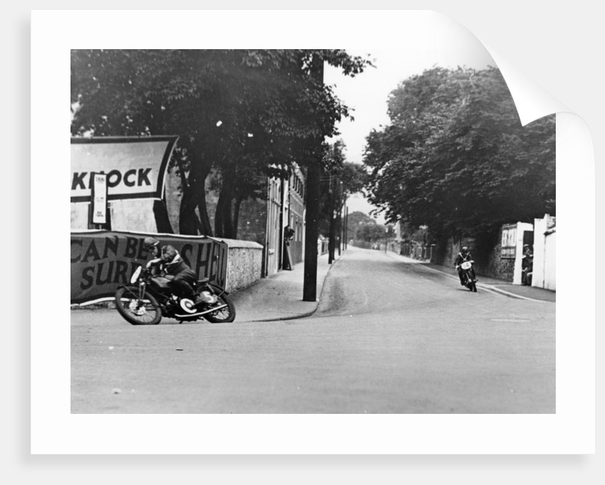 Charlie Dodson on a New Imperial bike, Swords, County Dublin, Ireland, 1934 by Unknown