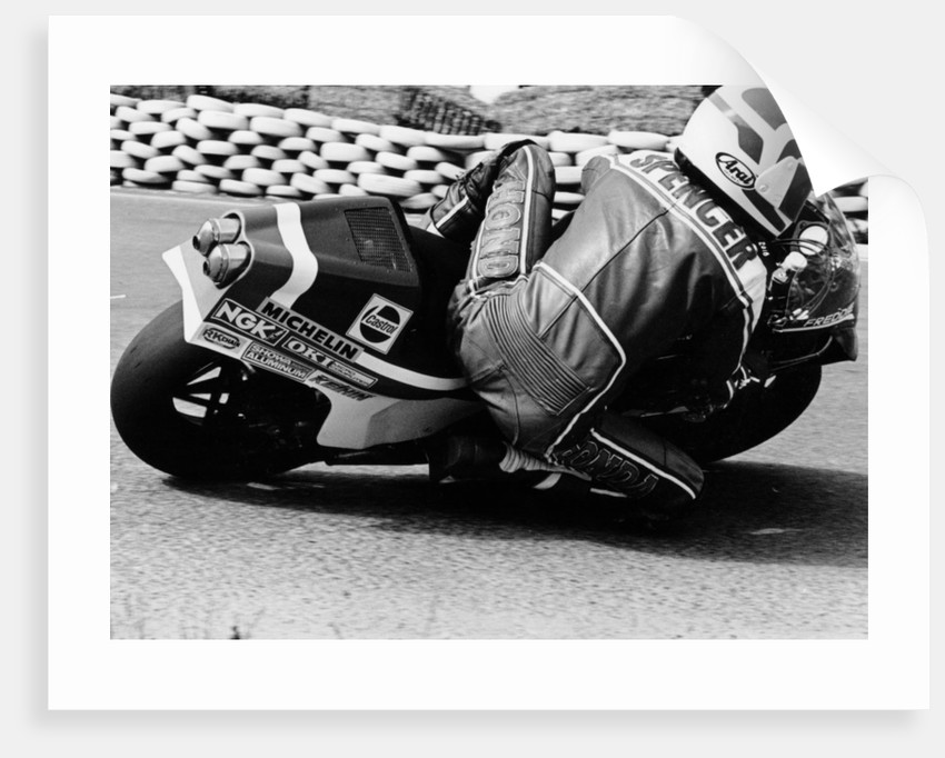 Freddie Spencer on a Honda NS500 by Anonymous
