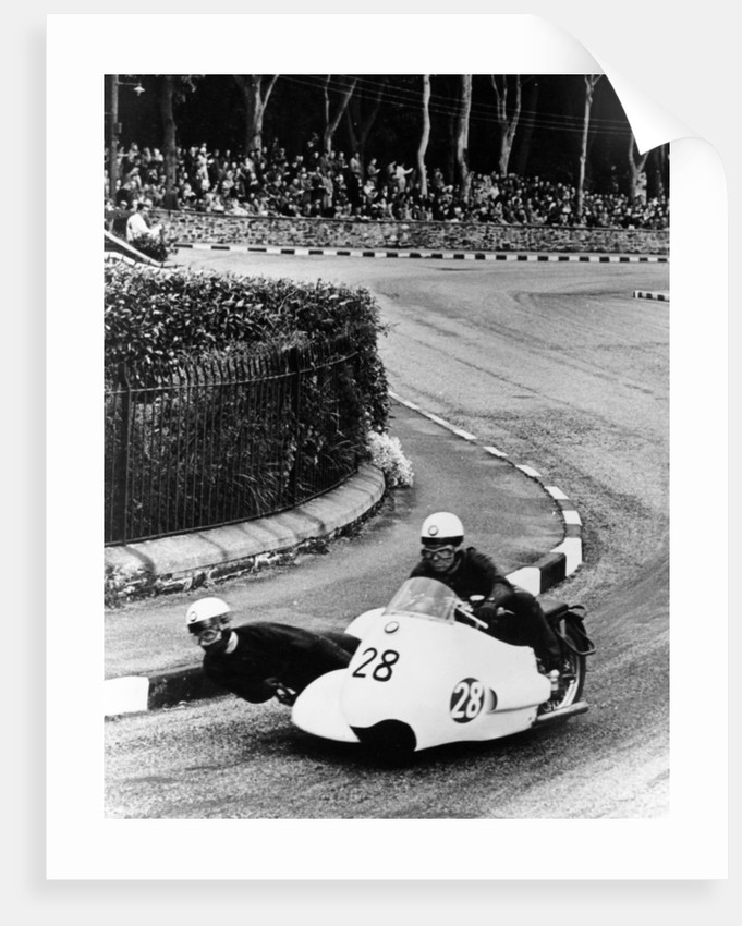 BMW Motorbike and sidecar combination, 1957 by Unknown