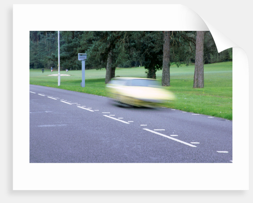 Speed Camera and road markings by Unknown