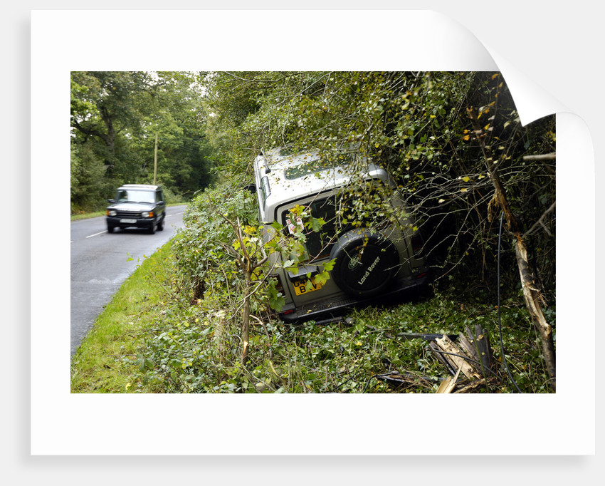 Land Rover Discorery 1990 Accident by Unknown