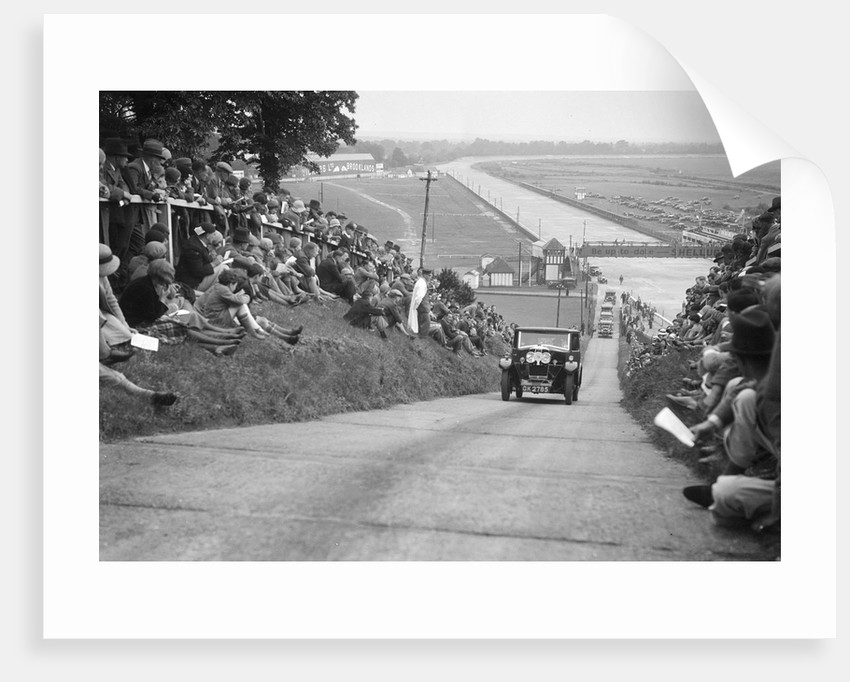 G Dixon's Riley taking part in the JCC Members Day, Brooklands, 4 July 1931 by Bill Brunell