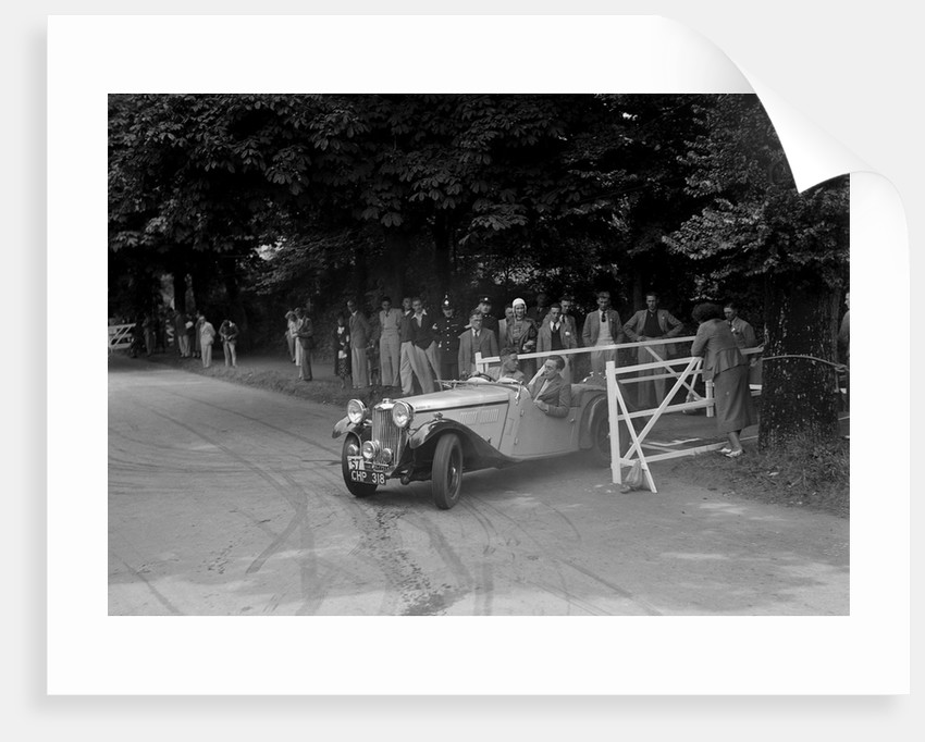 GL Boughton's Singer B37, winner of a premier award at the MCC Torquay Rally, July 1937 by Bill Brunell
