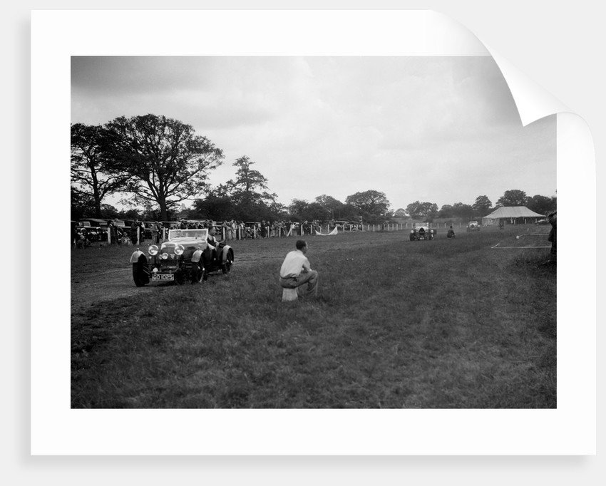 Aston Martin and Bugatti Type 43s taking part in the Bugatti Owners Club gymkhana, 5 July 1931 by Bill Brunell