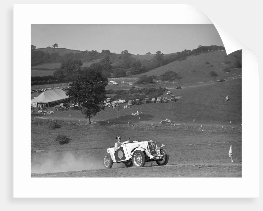 Candidi Provocatores team Singer Le Mans at the Singer CC Rushmere Hill Climb, Shropshire 1935 by Bill Brunell