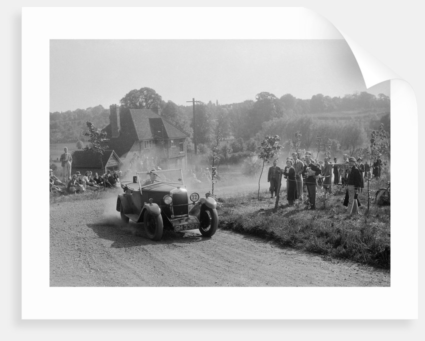 Riley with tourer body, Bugatti Owners Club Hill Climb, Chalfont St Peter, Buckinghamshire, 1935 by Bill Brunell