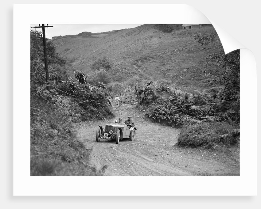 1933 MG J2 taking part in a motoring trial, late 1930s by Bill Brunell
