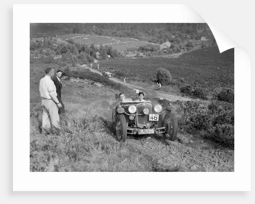 1932 Frazer-Nash TT replica taking part in the NWLMC Lawrence Cup Trial, 1937 by Bill Brunell