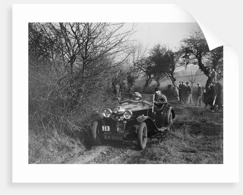 Riley of G Clifton at the Sunbac Colmore Trial, near Winchcombe, Gloucestershire, 1934 by Bill Brunell