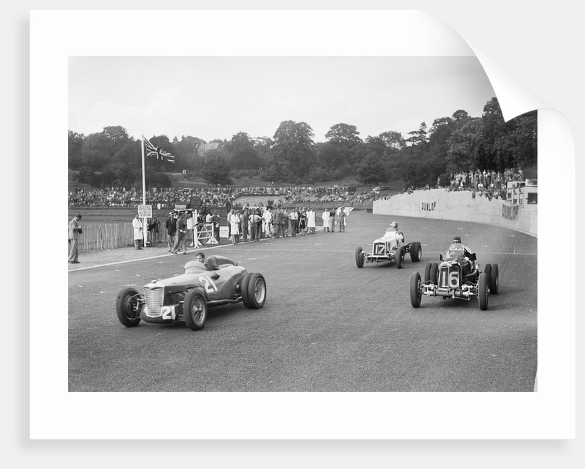 Riley of PW Maclure and ERAs of Raymond Mays and AC Dobson, Imperial Trophy, Crystal Palace, 1939 by Bill Brunell