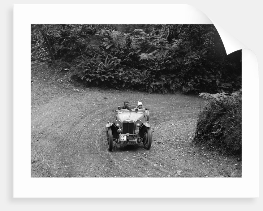 AH Langley's 1935 MG Magnette/Magna of the Three Musketeers team, Devon, late 1930s by Bill Brunell