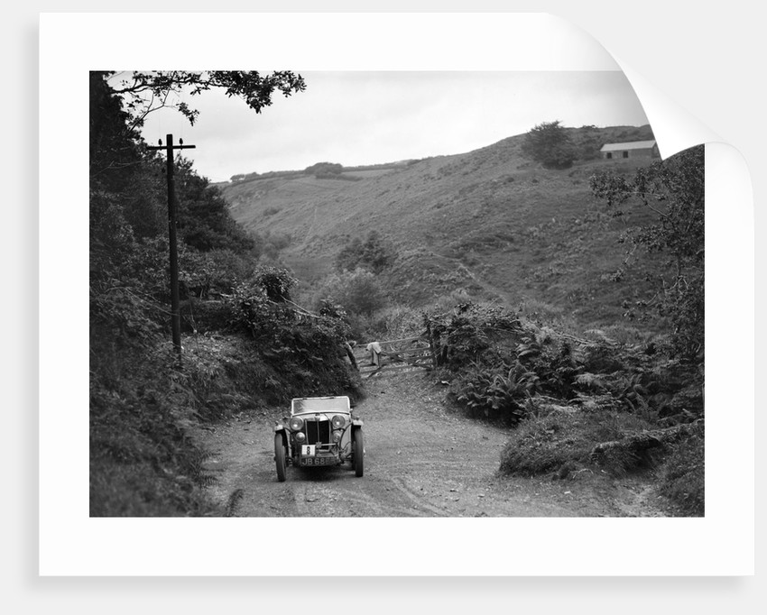 MG Magnette/Magna of the Three Musketeers team taking part in a motoring trial, Devon, late 1930s by Bill Brunell