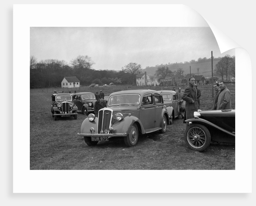 Standard Twelve and Standard Ten saloon, Standard Car Owners Club Southern Counties Trial, 1938 by Bill Brunell