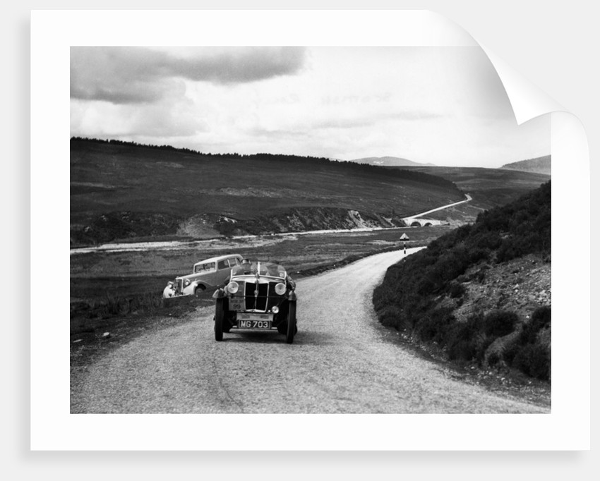 1936 MG M type Midget on Scottish rally by Unknown