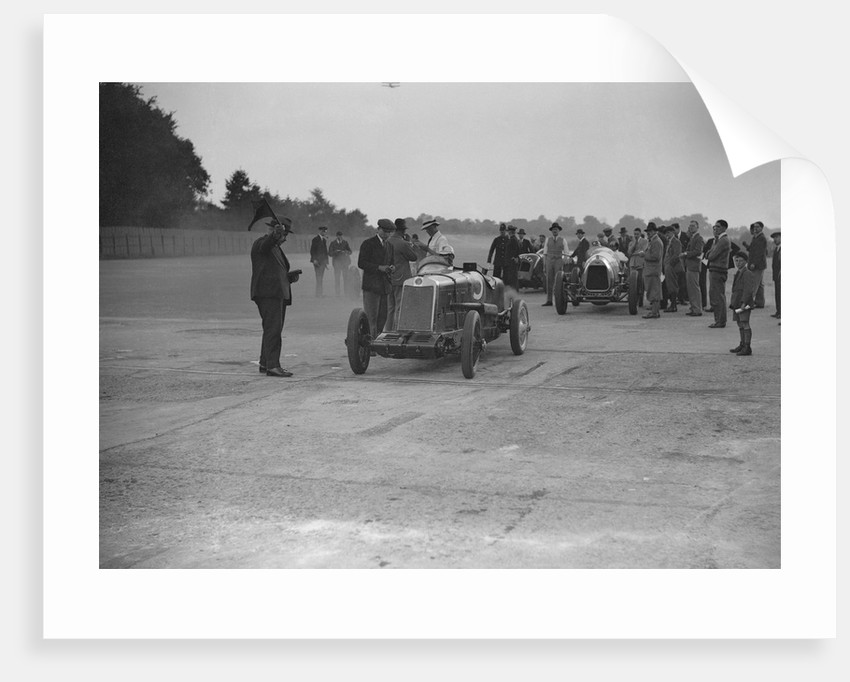 Lea-Francis, Delage and Bentley at a Surbiton Motor Club race meeting, Brooklands, Surrey, 1928 by Bill Brunell