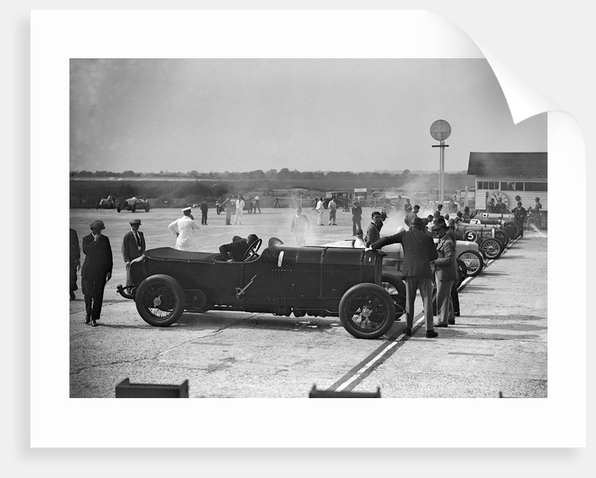 21.5 litre Benz of GK Clowes at a Surbiton Motor Club race meeting, Brooklands, Surrey, 1928 by Bill Brunell